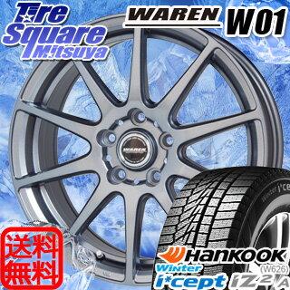 HANKOOK WINTER ICEPT W626 2017年製造品 205/60R16HotStuff ヴァーレンW01 16 X 6.5 +38 5穴 114.3