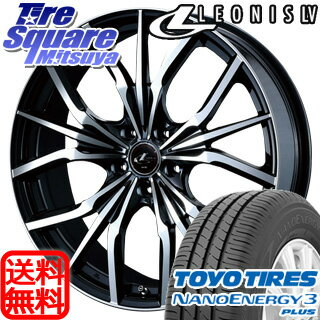 TOYOTIRES NANOENERGY3plus 215/45R18WEDS Leonis LV 18 X 7 +47 5穴 100