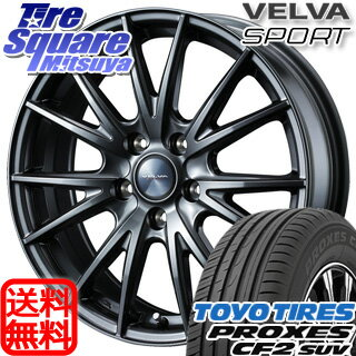 TOYOTIRES PROXES CF2 SUV 225/55R17WEDS ヴェルバSPORT 17 X 7 +40 5穴 114.3