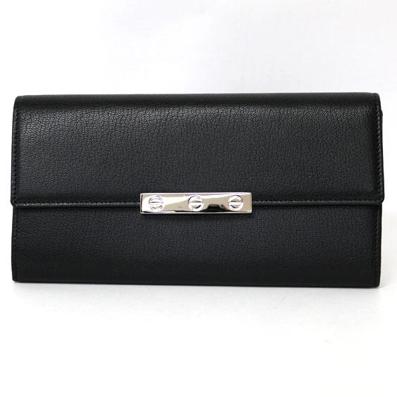 [ワケあり]Cartier LOVE ラヴ 長財布 ブラック L3001375【送料無料】【中古】 おしゃれ レディース 女性 wakeari