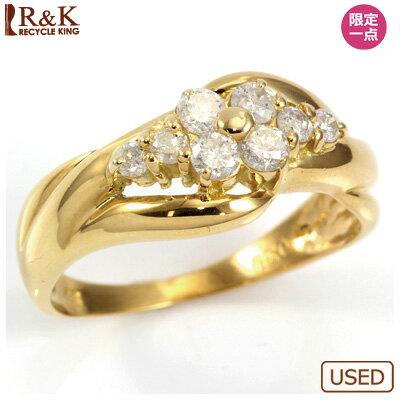 多様な ○K18 ダイヤモンドリング 指輪  D0.30 【送料無料】【中古】 おしゃれ レディース 女性 かわいい 可愛い オシャレ