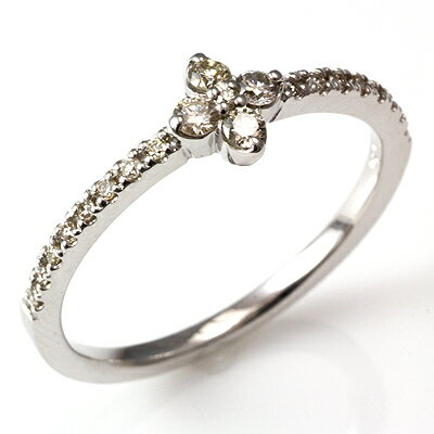 【ポイント10倍】【送料無料】【新品】K18 K18WG K18PG ダイヤフラワーハーフエタニティリング 指輪  18金  おしゃれ レディース 女性 かわいい 可愛い オシャレ