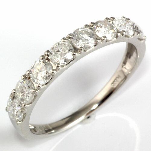 【ポイント2倍】【送料無料】【新品】PT900 ダイヤモンドリング 指輪  ハーフエタニティ D1.00 1ct プラチナ  おしゃれ レディース 女性 かわいい 可愛い オシャレ