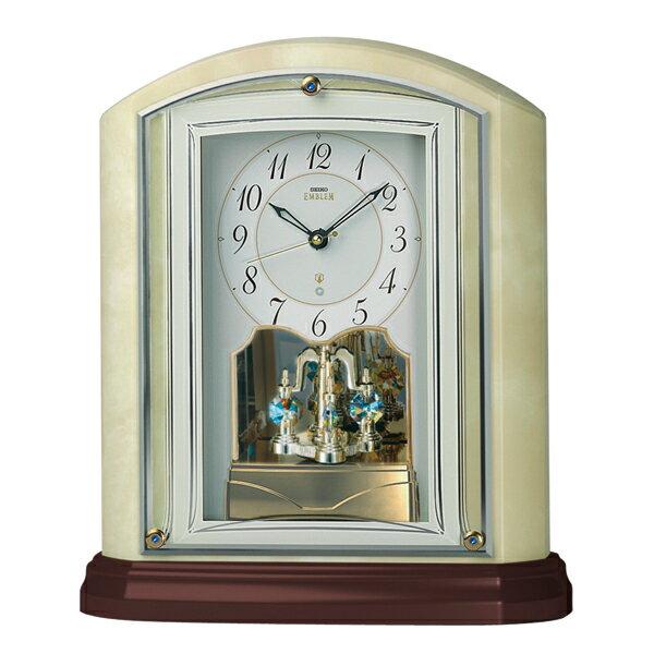 【お取寄せ品】!セイコー電波置き時計「セイコーエンブレム」  HW590M