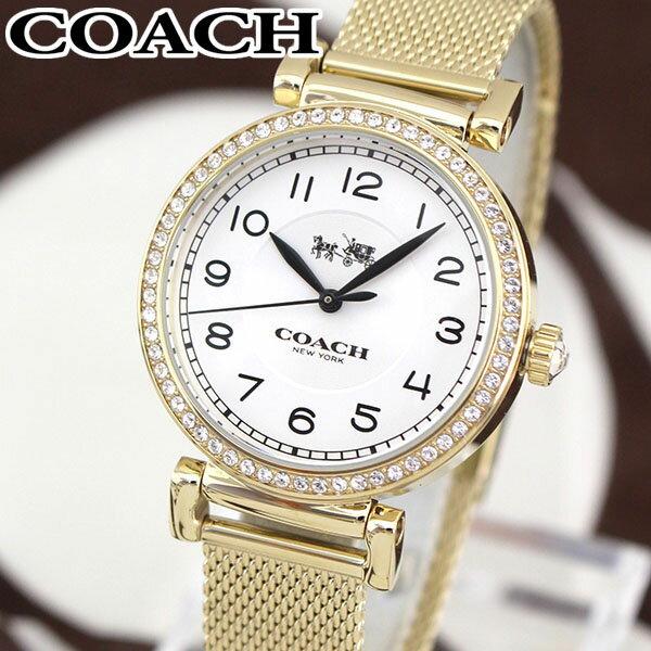★送料無料 COACH コーチ MADISON マディソン 14502652 海外モデル レディース 腕時計 ウォッチ メタル バンド クオーツ アナログ 白 ホワイト 金 ゴールド