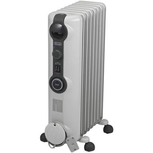 【長期保証付】デロンギ HJ0812(ホワイト+ミディアムグレー) オイルヒーター 1200W