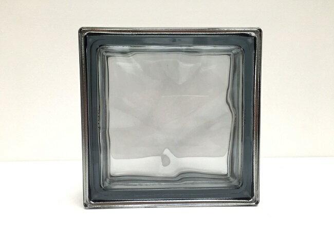 NEW!ガラスブロック【メタリックスタイル】/グレー色/80個セット商品(W190×H190×D80mm)【イタリア製ガラスブロック】