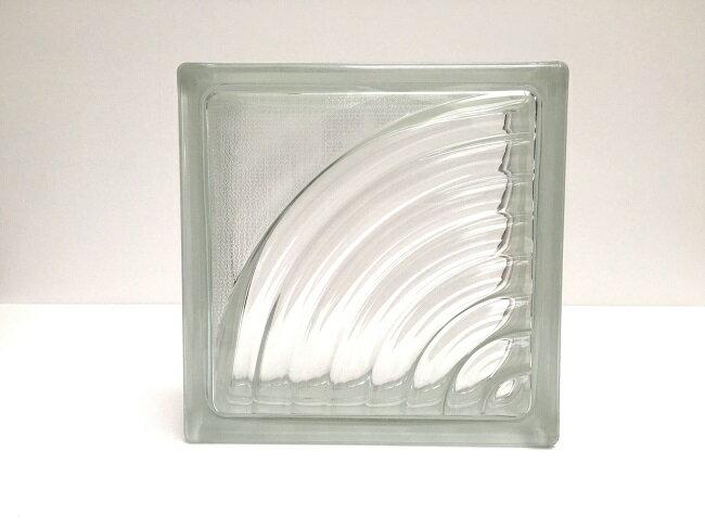 NEW!ガラスブロック【クリアスタイル】/サークル/15個セット商品(W190×H190×D80mm)【チェコ製ガラスブロック】