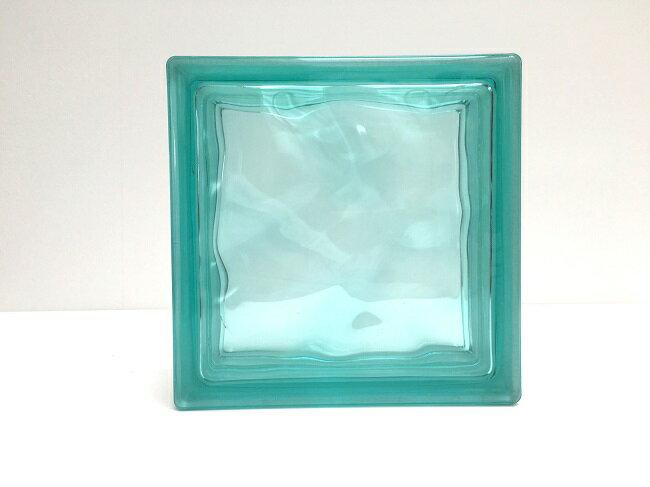 新商品!ガラスブロック【クリスタルスタイル】/クリスタルターコイズ/15個セット商品(W190×H190×D80mm)【チェコ製ガラスブロック】