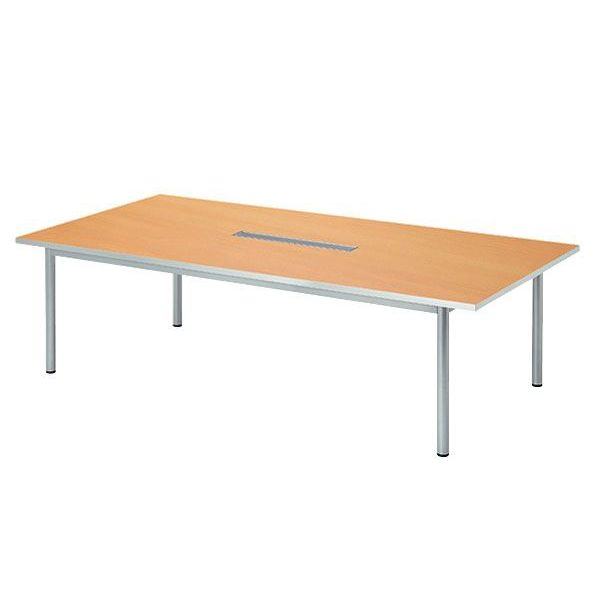 パソコン対応 角型 ミーティングテーブル W1800 D900 配線機能付 WP-1890KW