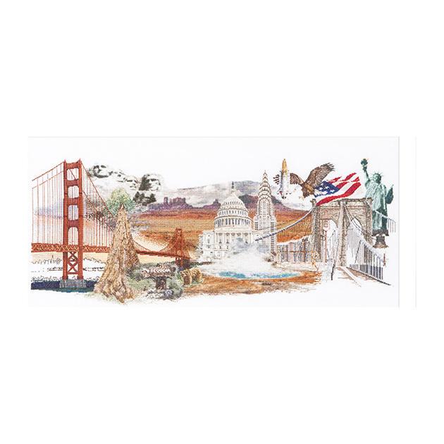 Thea Gouverneur クロスステッチ刺繍キットNo.544  「America」(アメリカ合衆国)  オランダ テア・グーヴェルヌール 【取り寄せ/納期40~80日程度】