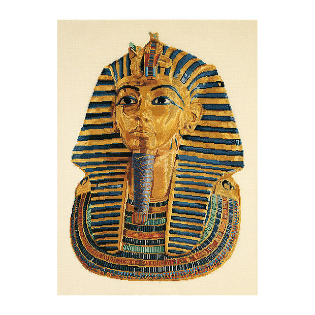 Thea Gouverneur クロスステッチ刺繍キットNo.945 「Tutankhamun (small)」 ツタンカーメン (古代エジプト第18王朝のファラオ 小) テア・グーヴェルヌール 【取り寄せ/納期40~80日程度】
