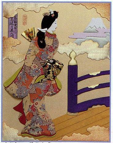 東芸押し絵キット S8829「見返り美人図」 押絵キット(6号)