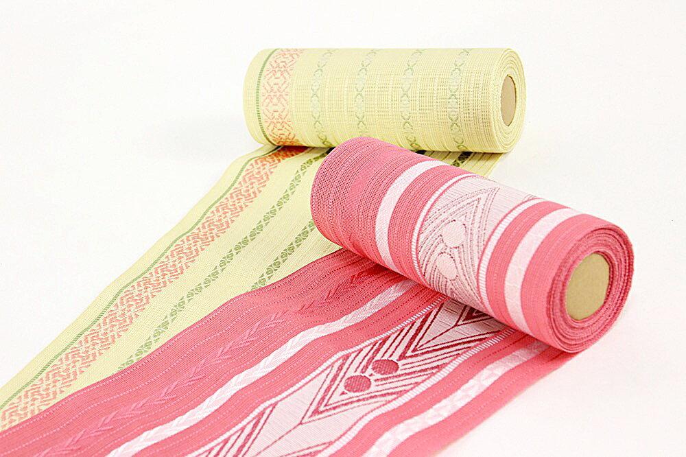 正絹本場筑前博多織 半幅帯 涼風 紗 夏帯 絹100% 四寸三分単帯 単衣帯 浴衣帯 メール便不可