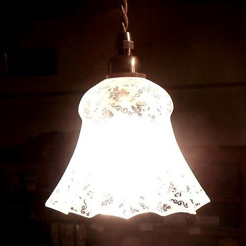 アンティークランプサンドグラスランプ