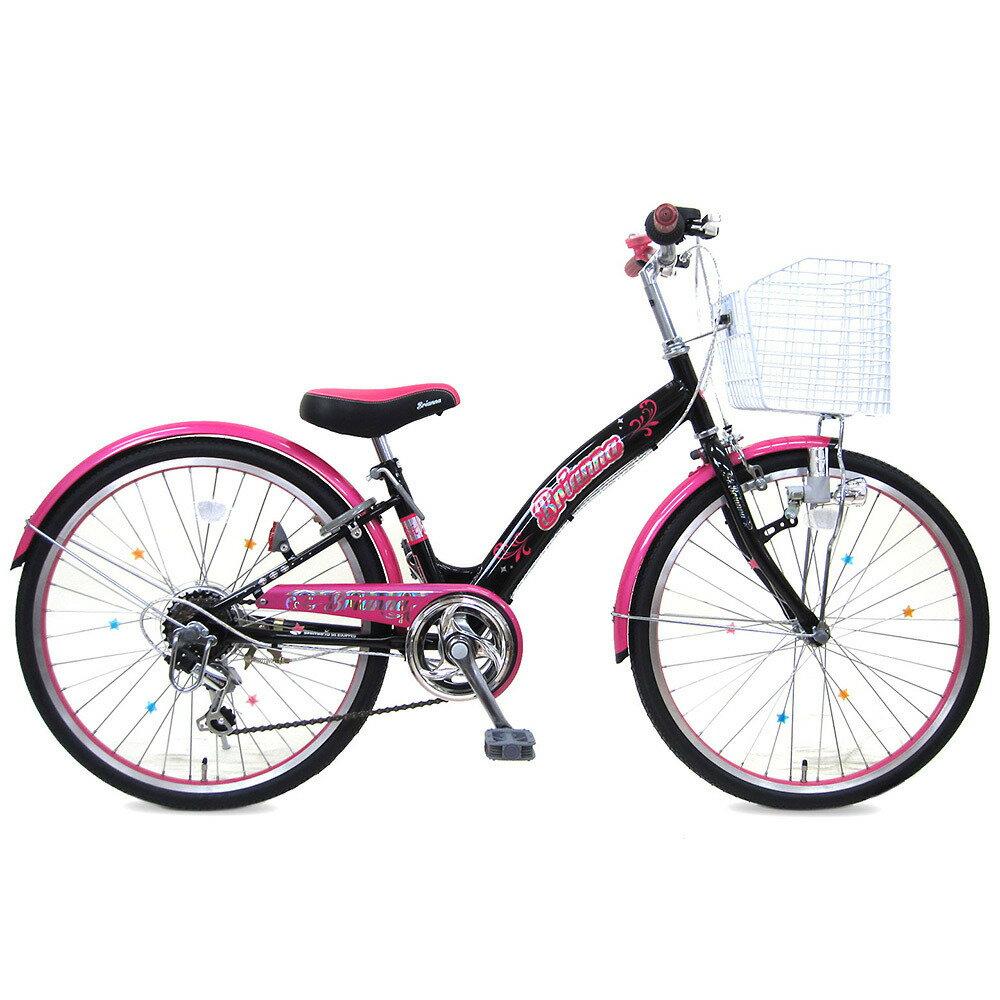 22インチ 子供用自転車 ブリアンナ(ブラック/ピンク)【女の子向け】【オンライン限定】