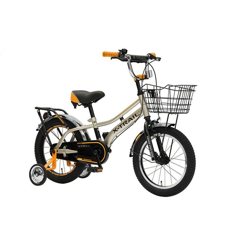 トイザらス限定 16インチ 子供用自転車 X‐TRAIL シルバー×オレンジ