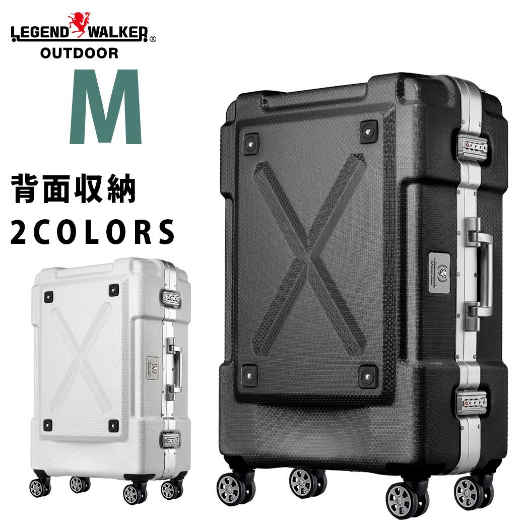 キャリーケース スーツケース キャリーバッグ 旅行用品 レジェンドウォーカー アウトドア Mサイズ 5泊 6泊 7泊 フレーム 頑丈 W-6303-62