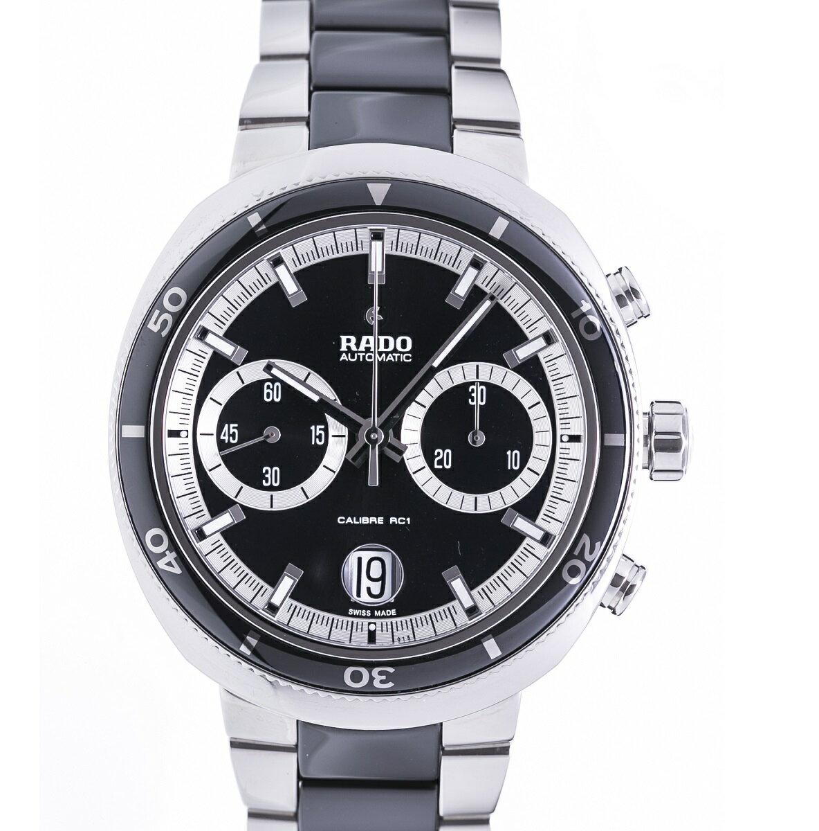 RADO ラドー Dスター200 クロノグラフ 腕時計 メンズ SS ステンレス AT 自動巻き 2017年 新品同様品 送料無料 【トレジャースポット】【中古】