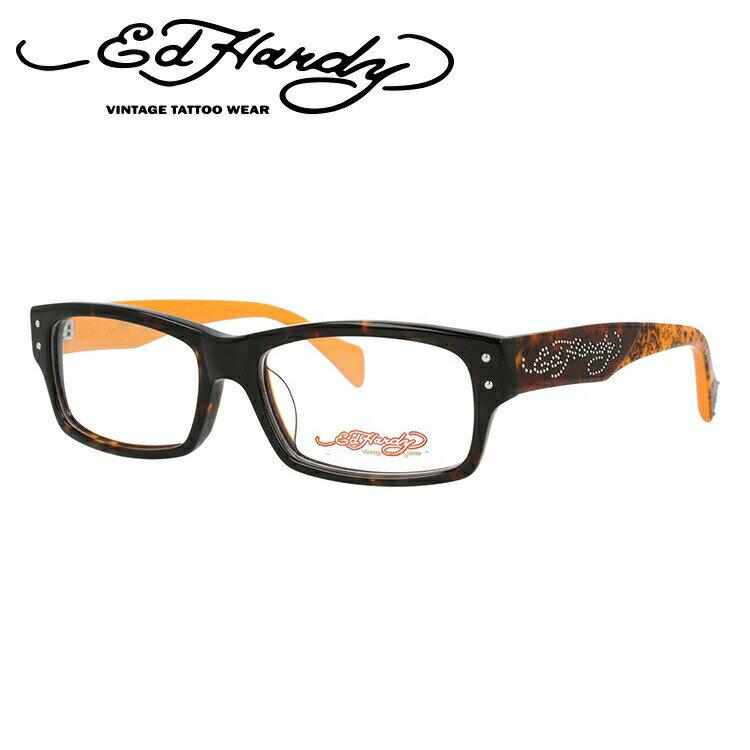 エドハーディー メガネ EdHardy 眼鏡 EHOA015 3 TORTOISE トートイズ メンズ レディース ブランドメガネ 伊達メガネ ダテメガネ 紫外線対策【伊達レンズ無料(度なし・UVカット率99%)】