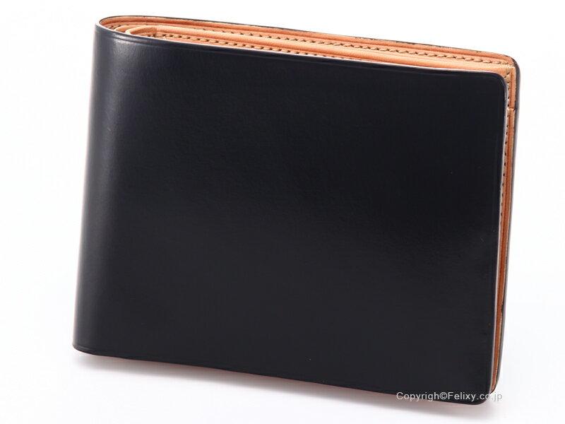 絶賛 イルブセット 財布 Il bussetto 11-007 ブラック 小銭入れ付き二つ折り財布