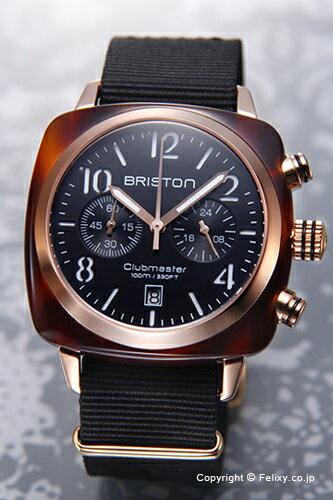 BRISTON ブリストン 腕時計 Clubmaster Chronograph (クラブマスター クロノグラフ) ブラック×ローズゴールド(トータス)×ブラック 14140.PRA.T.1.NB 【あす楽】