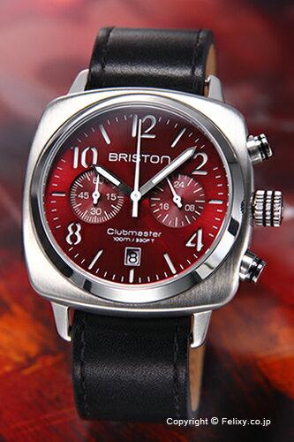 BRISTON ブリストン 腕時計 Clubmaster Classic Chronograph (クラブマスター クラシック クロノグラフ) ワインレッド 15140.S.C.8.LCB 【あす楽】