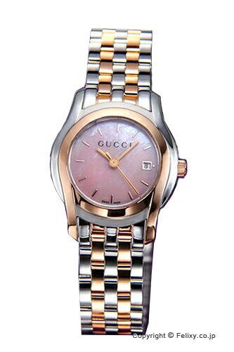 GUCCI グッチ レディース腕時計 G-Class Classic (G-クラス クラシック) ピンクパール×ローズゴールド YA055539 【グッチ 時計】