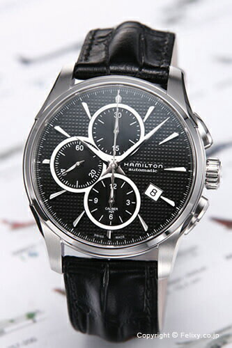 ハミルトン 腕時計 HAMILTON New Jazz Master Auto Chrono (ニュー ジャズマスター オートクロノ) ブラック/ブラックレザーストラップ H32596731