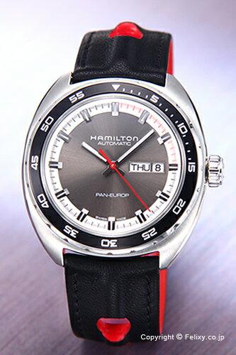ハミルトン 腕時計 メンズ HAMILTON Pan Europ Auto (パンユーロ オート) グレー H35415781 【あす楽】
