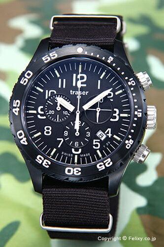 トレーサー TRASER メンズ腕時計 Officer Chronograph Pro (オフィサー クロノグラフ プロ) ブラック P6704.4A3.I2.01 【トレーサー 時計】