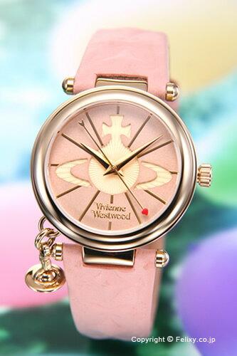 Vivienne Westwood ヴィヴィアンウエストウッド レディース腕時計 ピンク×ゴールド VV006PKPK