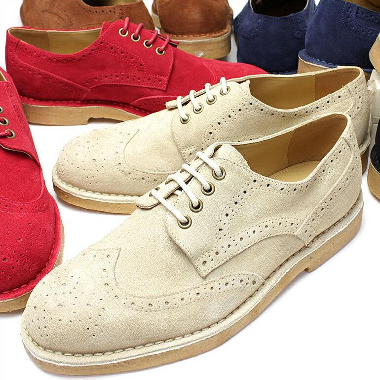 アンチバカジュアルシューズ ANTIBA靴 ANTIBA カジュアルシューズ アンチバ 靴 メンズ 紳士 男性/AN9200 [カジュアルシューズ スエード/カジュアルシューズ メンズ/ウイングチップ/ベロア]【送料無料】