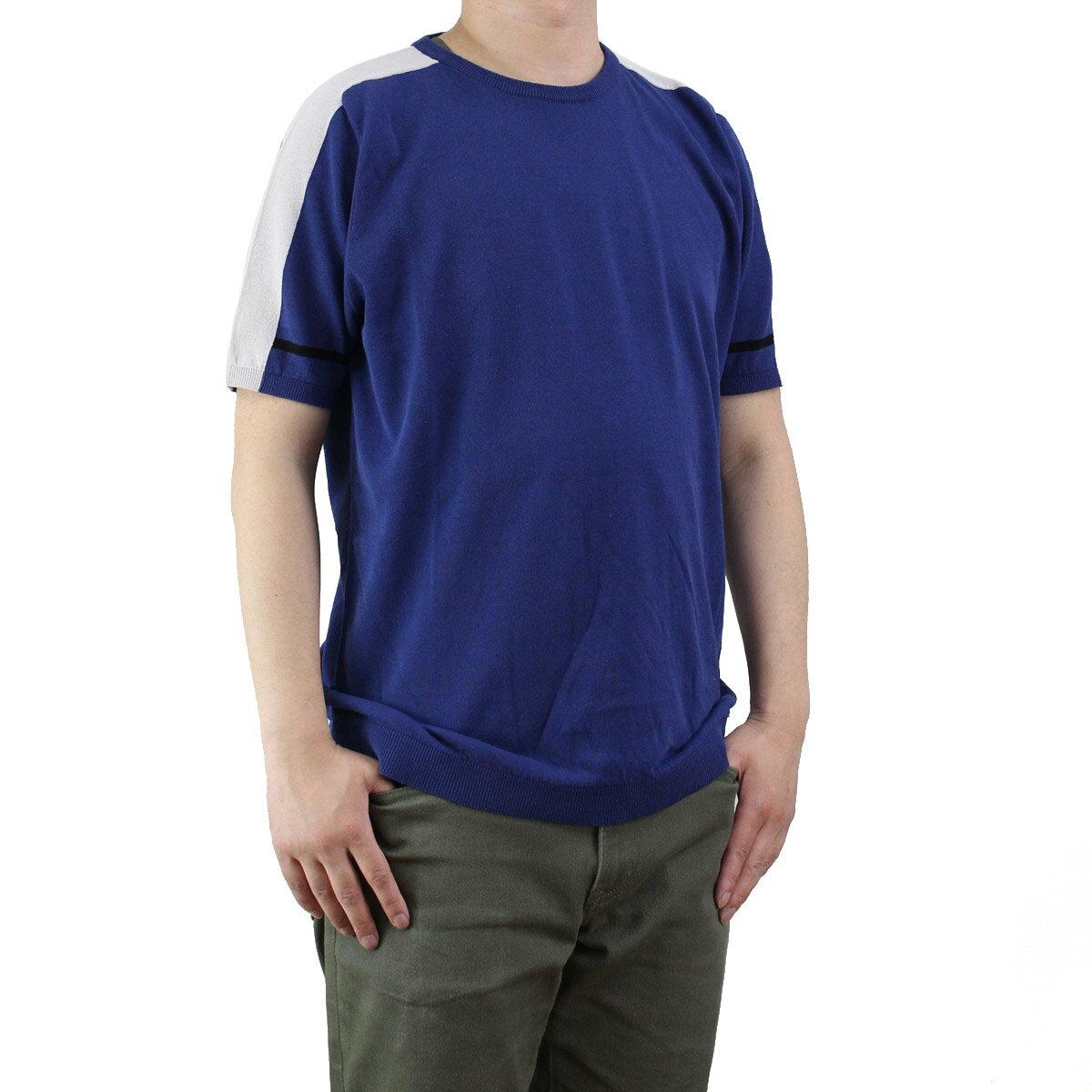 バーク Bark メンズ 半袖 サマー セーター 71B6002 253 BLUE ブルー系