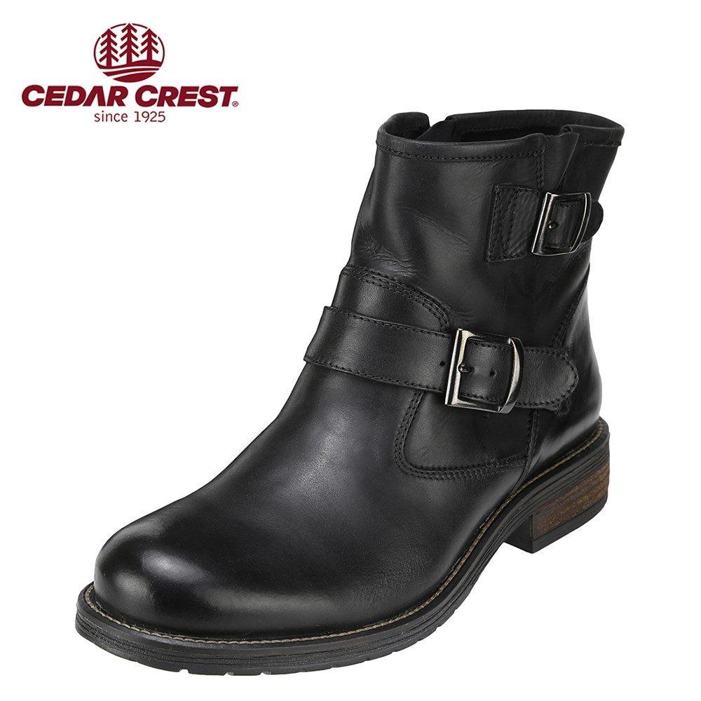 [全商品ポイント5倍]セダークレスト CEDAR CREST ブーツ CC-1583 メンズ 靴 シューズ 3E相当 ブーツ 本革 幅広 エンジニア 大きいサイズ対応 28.0cm ブラック SP
