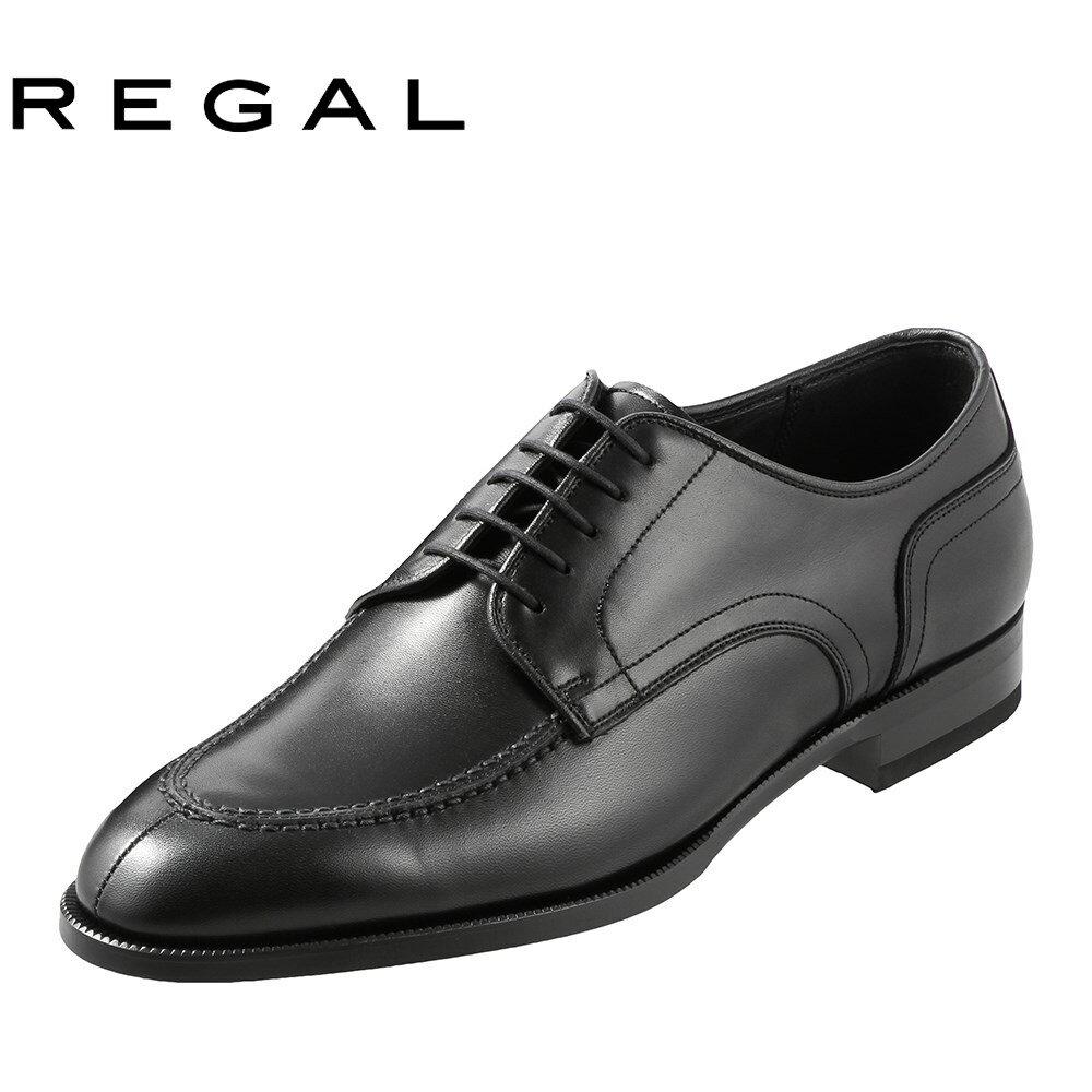 [リーガル] REGAL 12KRBD メンズ | ビジネスシューズ | 外羽根式 Uチップ | 吸汗 速乾性 抗菌加工 | 小さいサイズ対応 23.5cm 24.0cm 24.5cm | ブラック