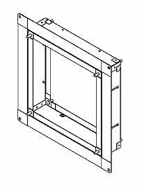 東芝 換気扇システム部材有圧換気扇専用スライド取付枠 KW-S25VP
