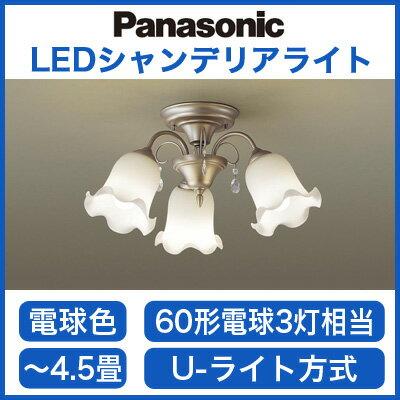 パナソニック Panasonic 照明器具LED小型シャンデリア 電球色 60形電球3灯相当LGB57342K【4.5畳】