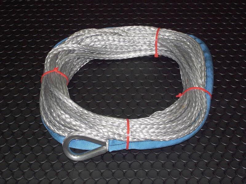 【ラスト1点セール】 【汎用 ウィンチ ロープ】JMシンセチックロープスーパーマックス 100ft 5/16インチ(約8mm)