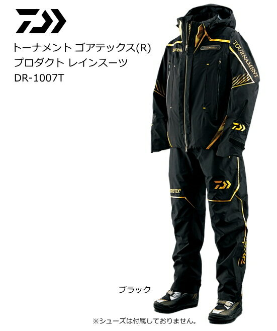 ダイワ トーナメント ゴアテックス(R) プロダクト レインスーツ DR-1007T ブラック 2XL(3L)サイズ / 9月中旬~下旬頃入荷予定 先行予約受付中