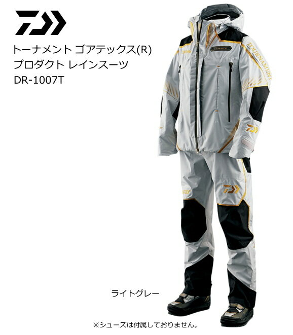 ダイワ トーナメント ゴアテックス(R) プロダクト レインスーツ DR-1007T ライトグレー Lサイズ [お取り寄せ商品] / セール対象商品 (10/10(火) 9:59まで)