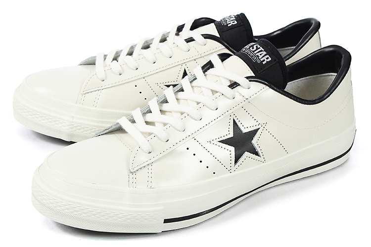 大きいサイズ 【29cm】 converse (コンバース) ONE STAR J(ワンスター J) ホワイト/ブラック