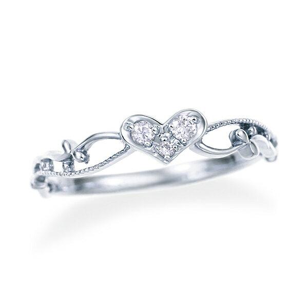 ホワイトゴールドダイヤモンドリング ダイヤモンド リング 【happy cherish jewelry】