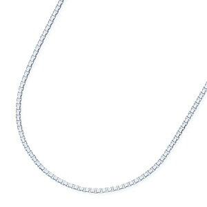 ホワイトゴールドネックレス【42cm】