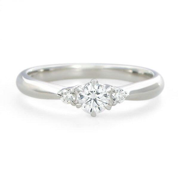 婚約指輪 【0.23カラットup Dカラー VS1 ExcellentH&C】鑑定書付き プラチナエンゲージリング