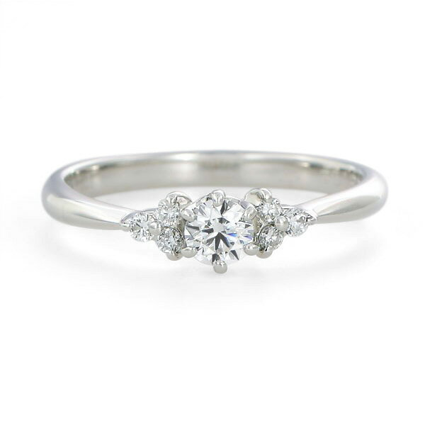 婚約指輪 【0.18カラットup Dカラー VVS1 ExcellentH&C】鑑定書付き プラチナエンゲージリング