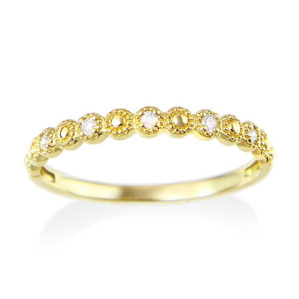 イエローゴールドダイヤモンドリング ダイヤモンド リング【happy cherish jewelry】