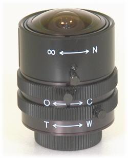 【SA-48800】 防犯カメラ・監視カメラ バリフォーカルレンズ マニュアルアイリスCSマウント L径29Фmm f=1.6~3.4mm