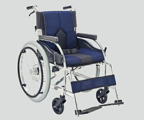 最短7日 ★ポイント最大7倍★【全国配送可】-車椅子(アルミ製・背折れタイプ) ネイビー マキテック 型番KC-1DB  JAN4968501883156 asn8-7035-02 -【医療・看護用機器】