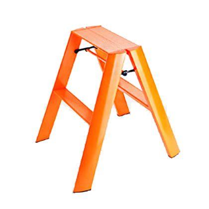 メタフィス ルカーノ 2-step 踏台(踏み台) オレンジ (ML2.0-2(OR)) 長谷川工業 脚立 踏み台 踏台